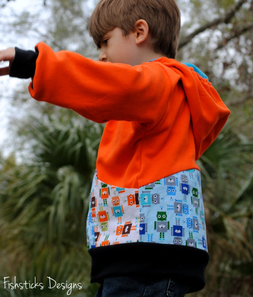 Fishsticks Designs - Hide N Go Seek Reversible Hoodlie (Childrens)