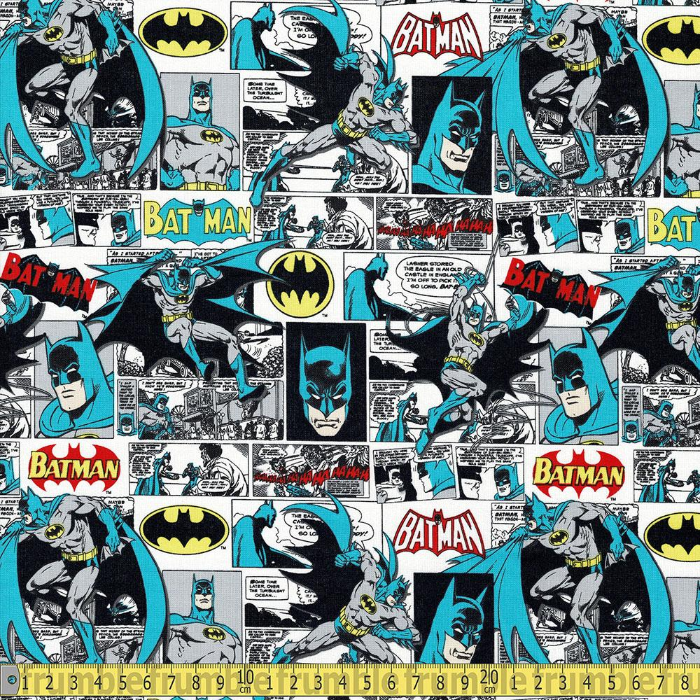 Camelot - Licensed Cottons - DC Batman Comic Strip Multi Sewing Fabric