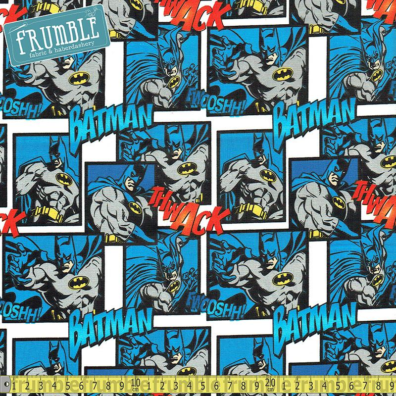 Batman Action Scenes Fabric by Camelot