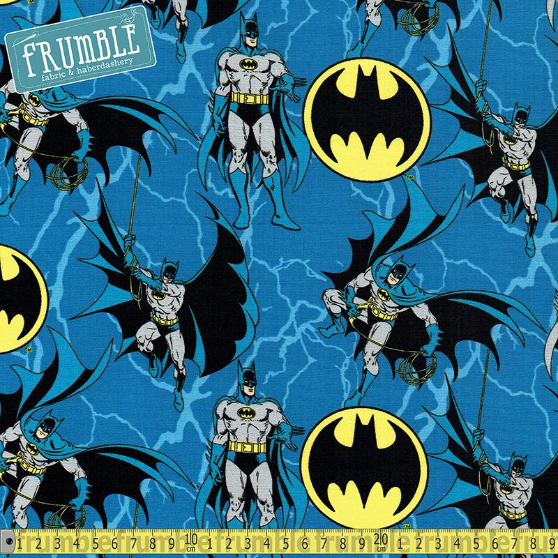 Batman Hero & Logo Fabric by Camelot