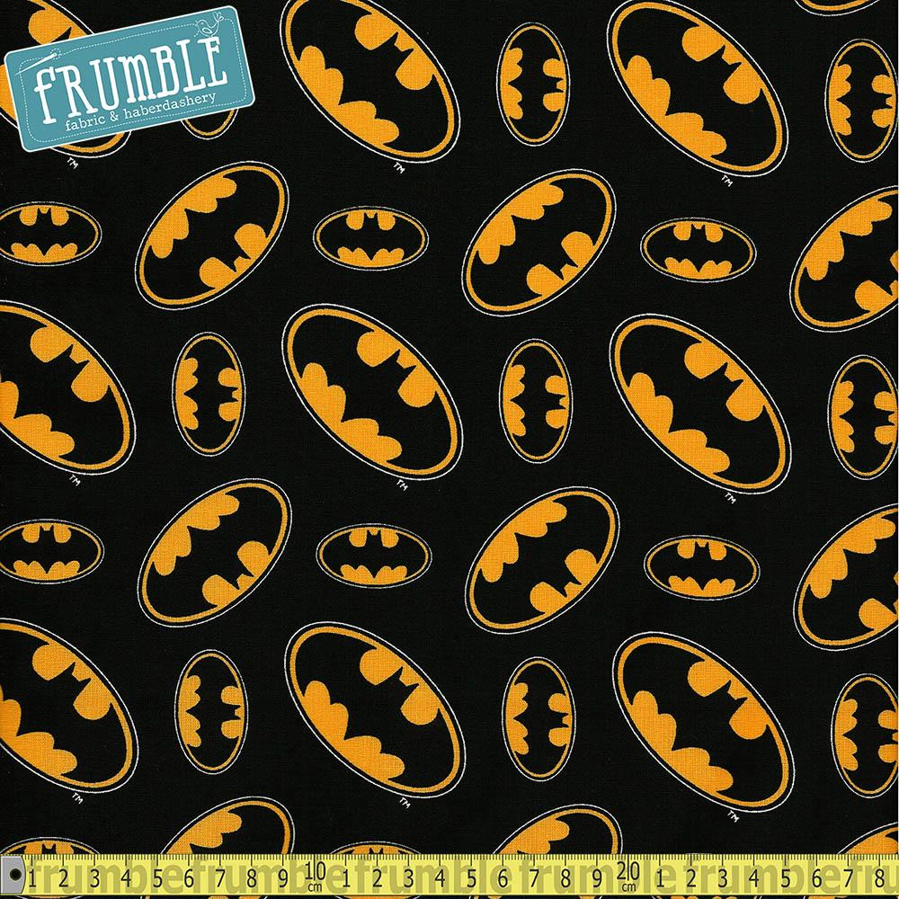 Batman Logos Black - Frumble Fabrics
