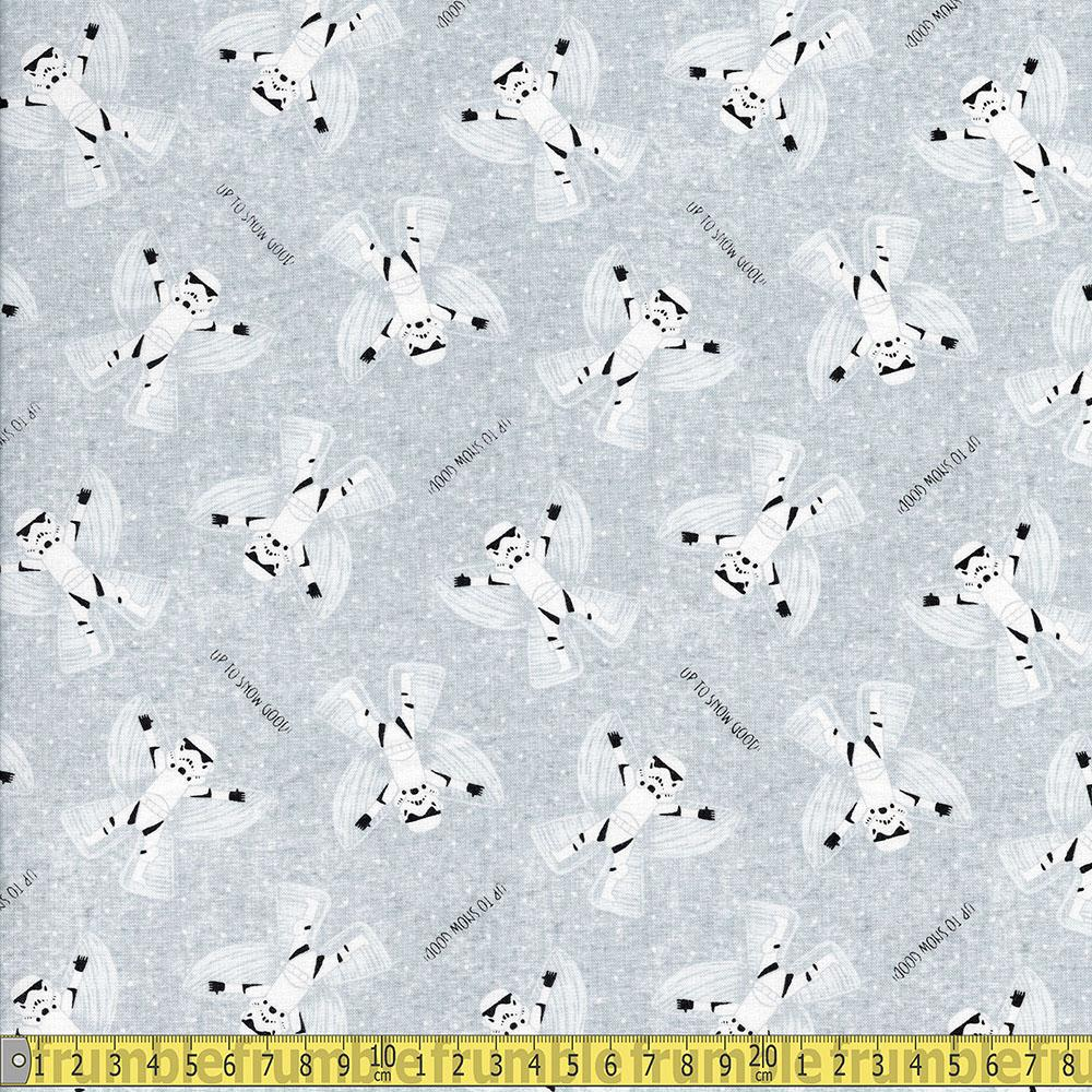 Camelot Fabrics - Licensed Christmas - Star Wars Up to Snow Good Grey Sewing Fabric