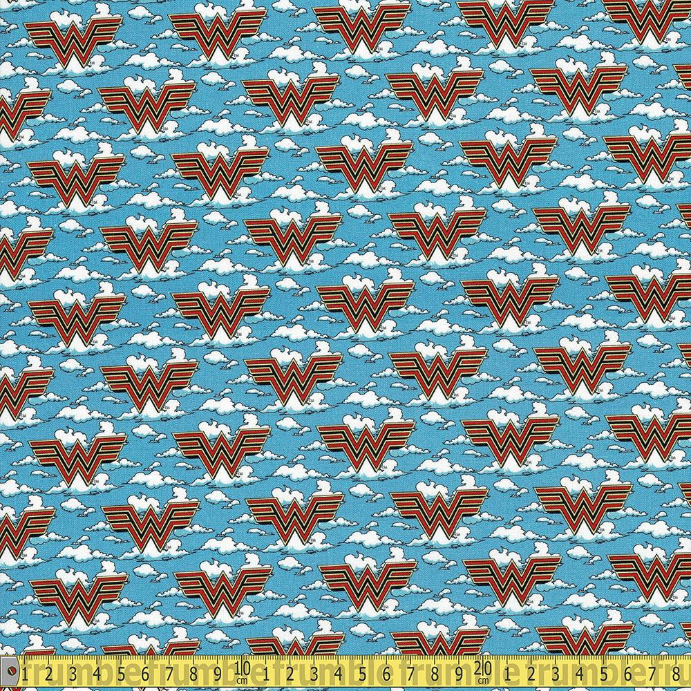 Camelot Fabrics - Wonder Woman 1984 - WW84 In The Clouds Blue Sewing Fabric