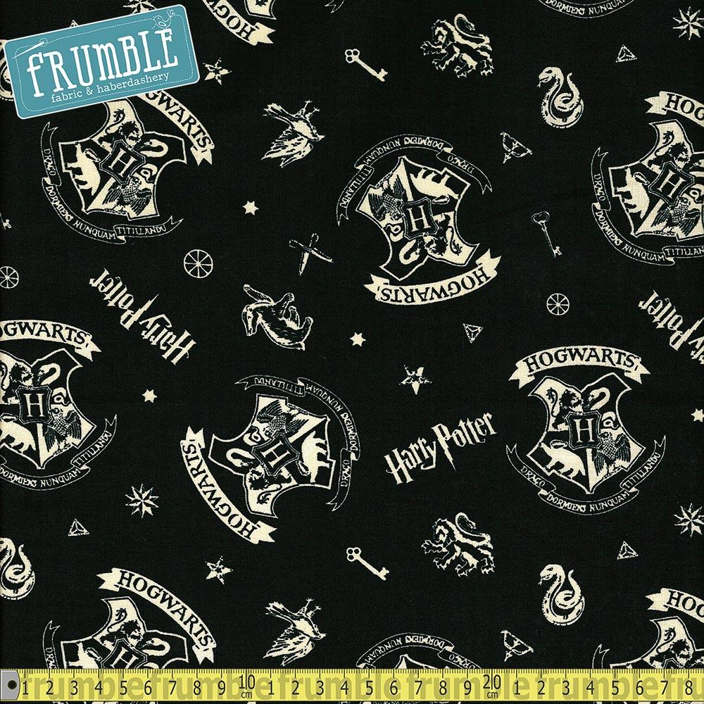 Harry Potter Hogwarts Black - Frumble Fabrics