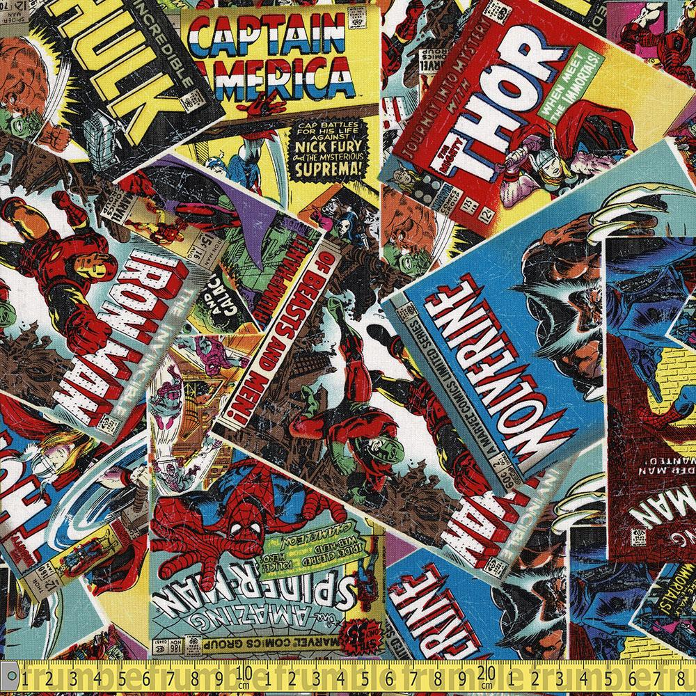 Marvel Comic Book Multi Fabric by Camelot