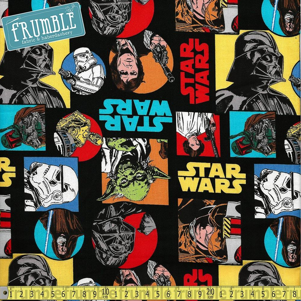 Star Wars Characters Multi Fabric by Camelot