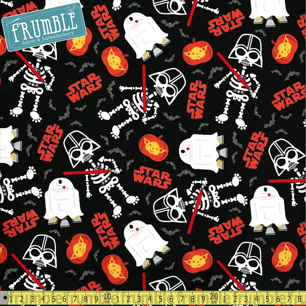 Star Wars Halloween Glow Black - Frumble Fabrics