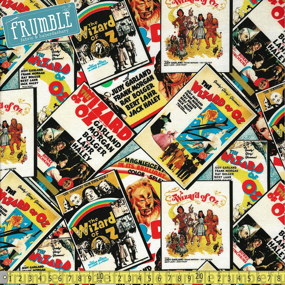 Wizard Of Oz Posters Multi - Frumble Fabrics