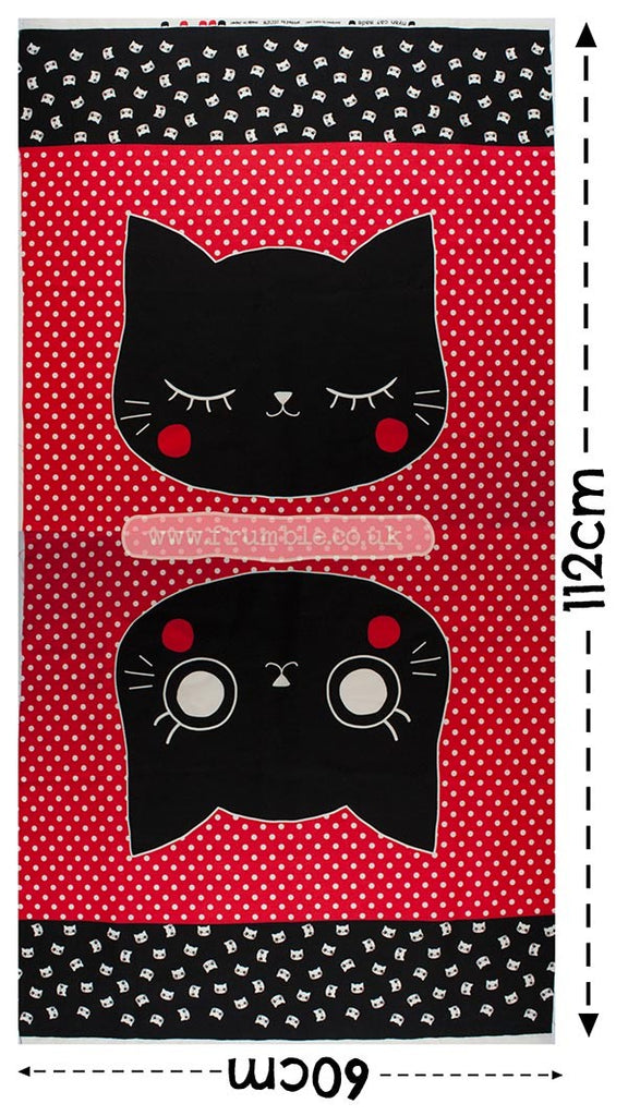 Nyan Cat Made Panel 60cm Red - Frumble Fabrics
