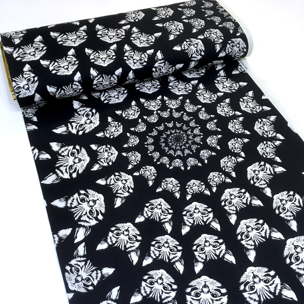 Cat-finity Black and White - Frumble Fabrics