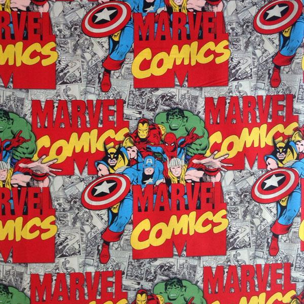 Marvel Immortals Characters & Logo Fabric by Camelot