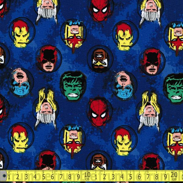 Marvel Comics II Characters In Blue Fabric by Camelot
