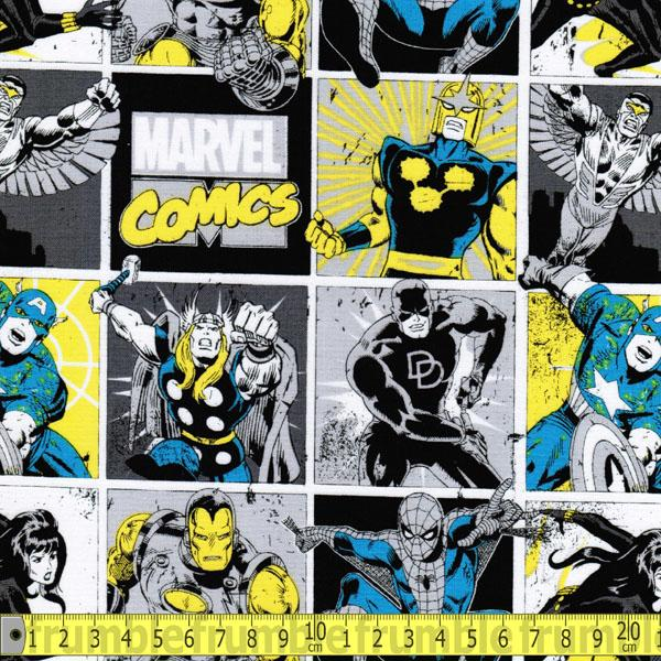 Marvel Comics II Comic Books In Sunshine Fabric by Camelot