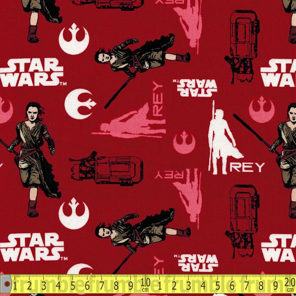 Star Wars Force Awakens Rey In Ruby - Frumble Fabrics