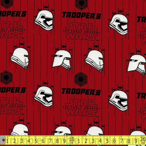 Star Wars Force Awakens Stormtroopers In Ruby Fabric by Camelot