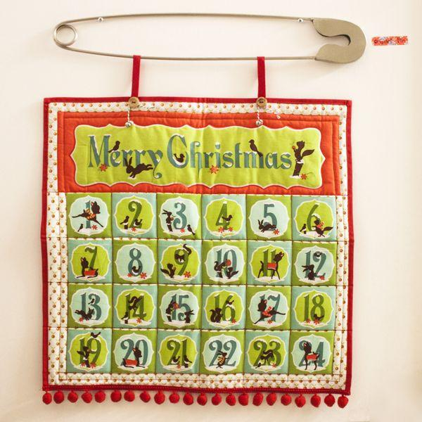 Alpine Wonderland Advent Calendar Red Fabric by Riley Blake