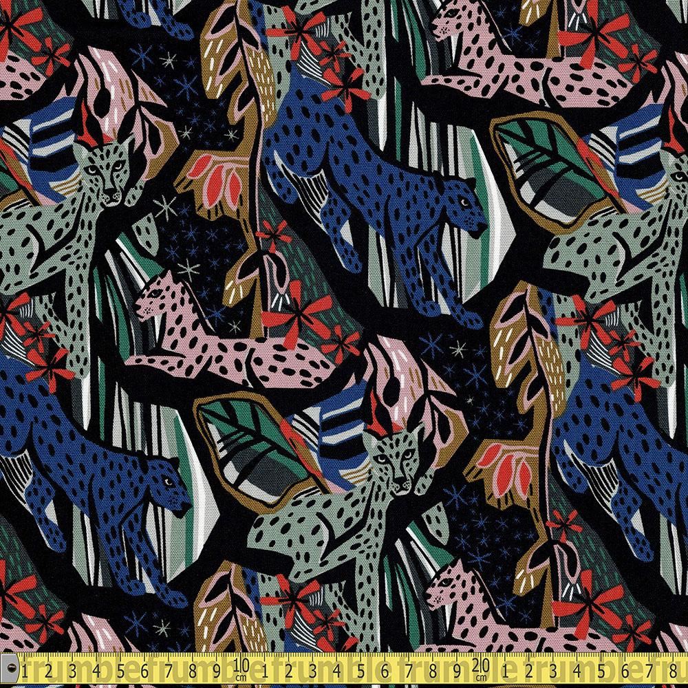 Cloud 9 GOTS Canvas - Under One Sky - Jungle Royals Sewing Fabric