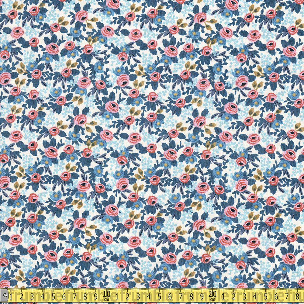 Cotton and Steel - Rifle Paper Co - Les Fleurs Rosa Periwinkle Sewing Fabric