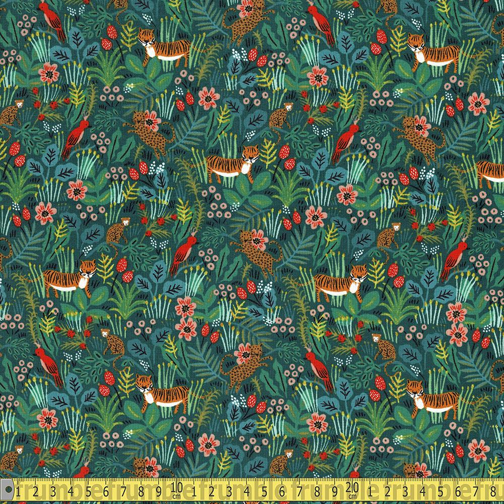 Cotton and Steel - Rifle Paper Co - Menagerie Jungle Hunter Sewing Fabric