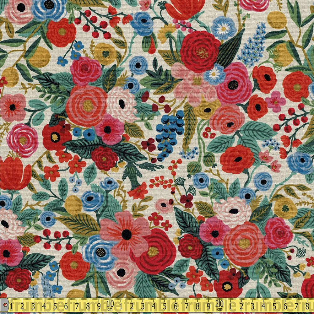 Cotton and Steel CANVAS - Rifle Paper Co - Wildwood Garden Party Pink Sewing Fabric