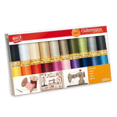 Gutermann 100m Cotton Thread - 20 Reels