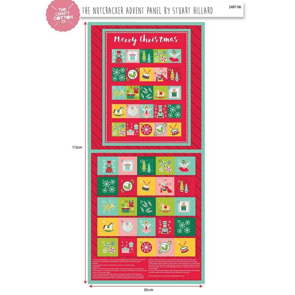Nutcracker Advent Panel Fabric by Craft Cotton Company