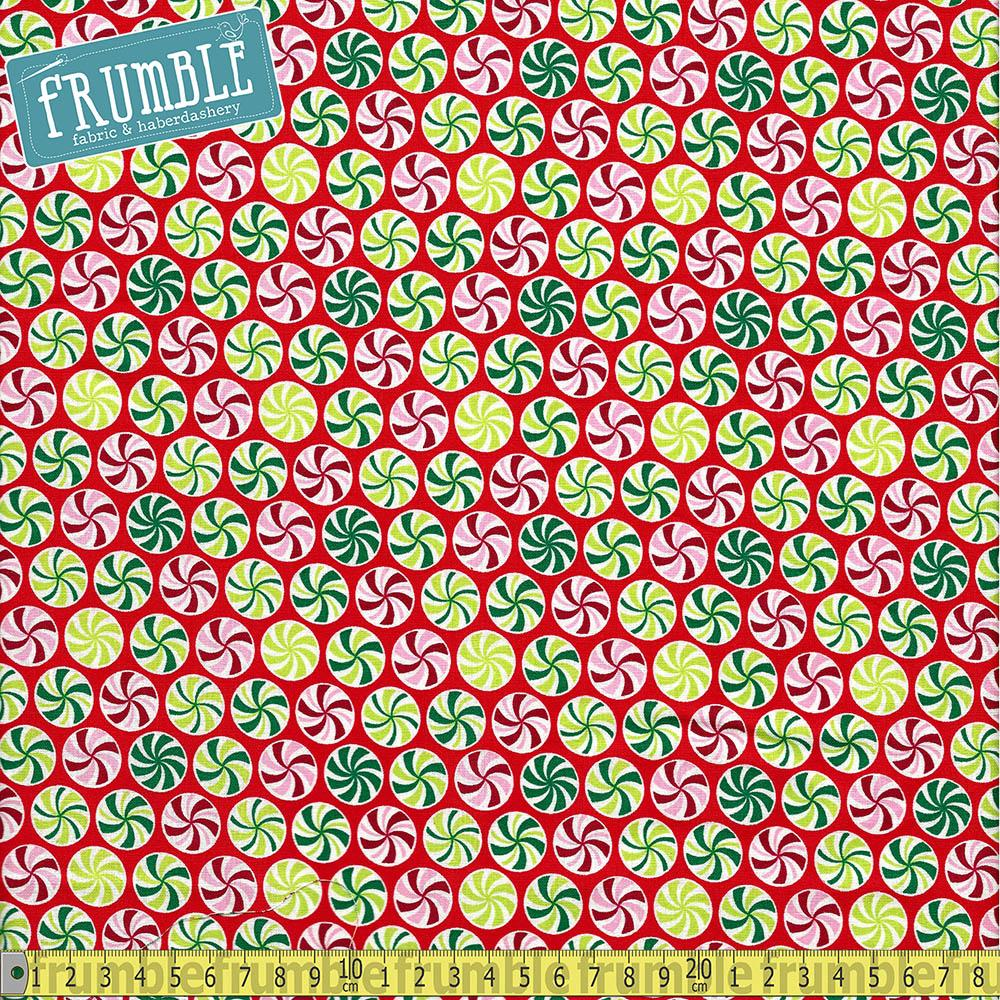 Nutcracker Candy Swirls Fabric by Craft Cotton Company