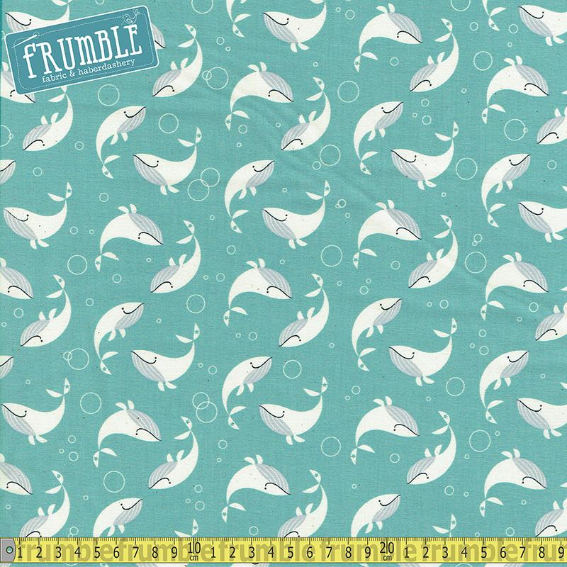 Kujira & Star Whale Dance Salt Water - Frumble Fabrics