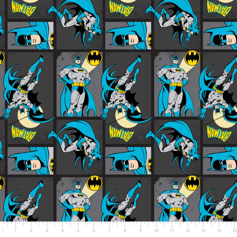 DC Comics II Batman in Carbon - Frumble Fabrics