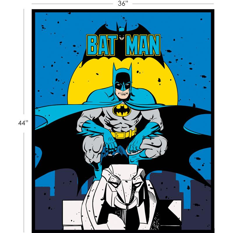 DC Comics II Batman Panel in Blue Fabric by Camelot
