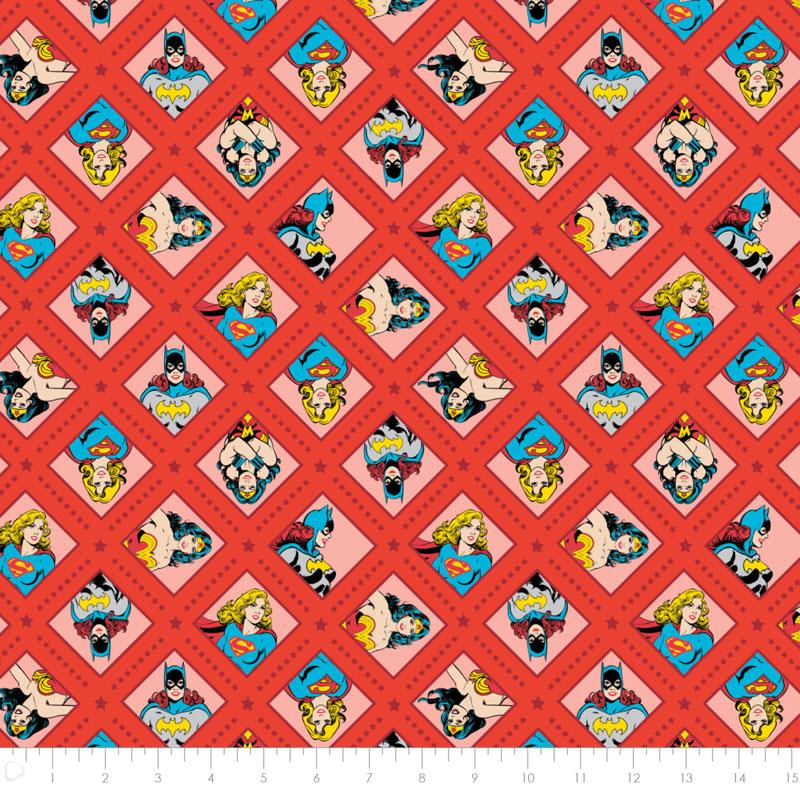 DC Comics II Super Women in Red Fabric by Camelot