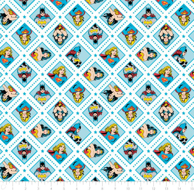 DC Comics II Super Women in Topaz Fabric by Camelot