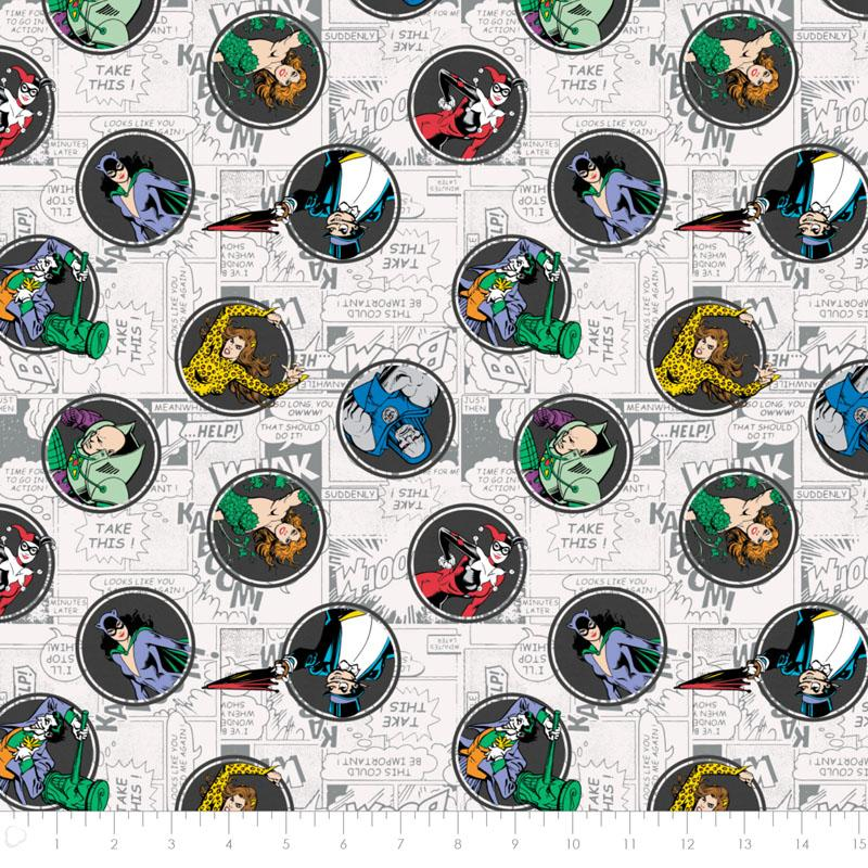 DC Comics II Villains in Grey - Frumble Fabrics