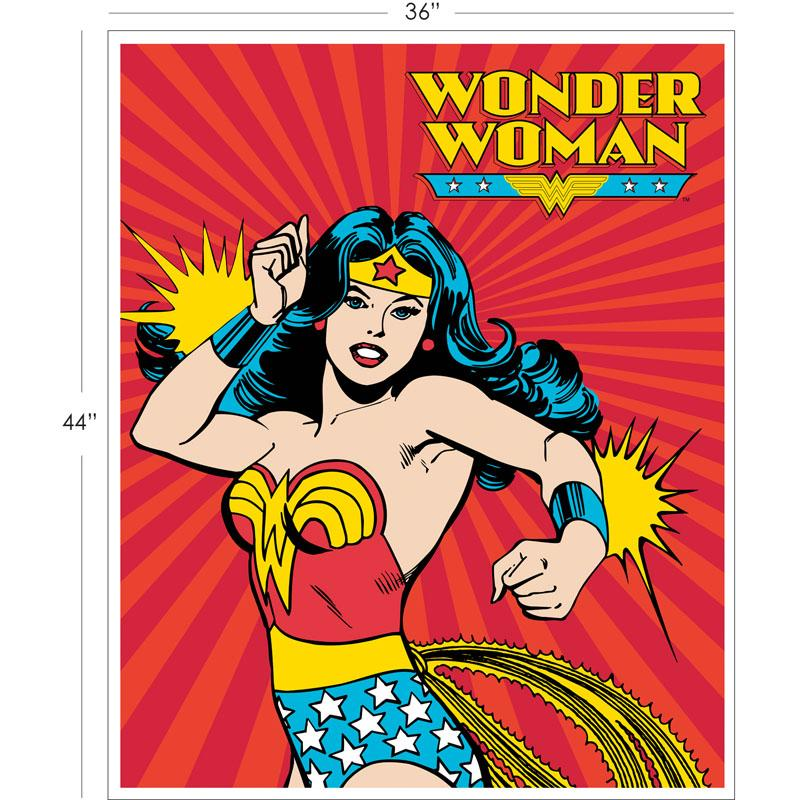 DC Comics II Wonder Woman 90cm Panel in Red - Frumble Fabrics