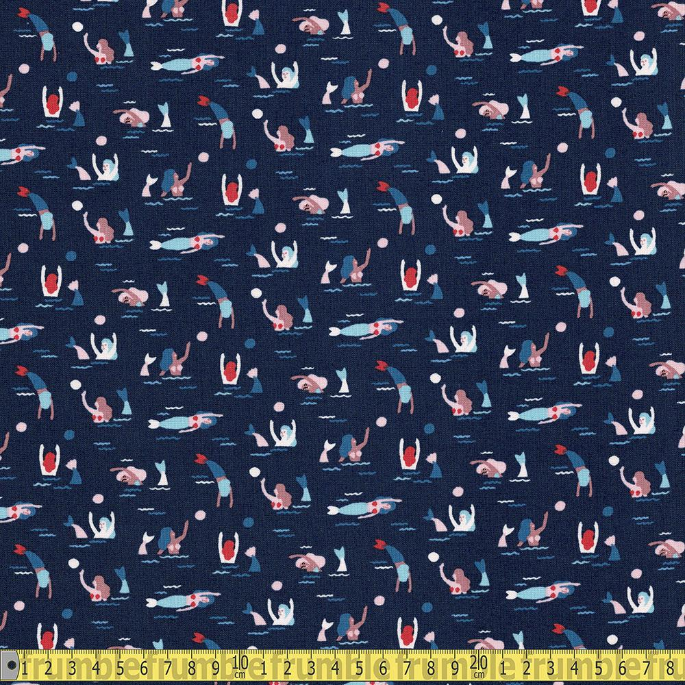 Dear Stella - Bootylicious - Ahoy Mermaids Eclipse Sewing and Dressmaking Fabric