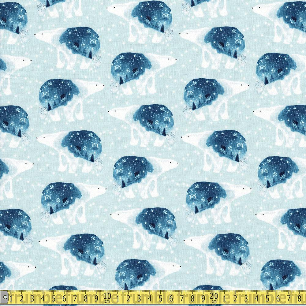 Dear Stella - Brave Enough To Dream - Polar Bears Misty Sewing Fabric