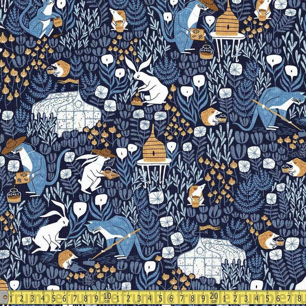 Honey Bee Keepers Navy Fabric by Dear Stella