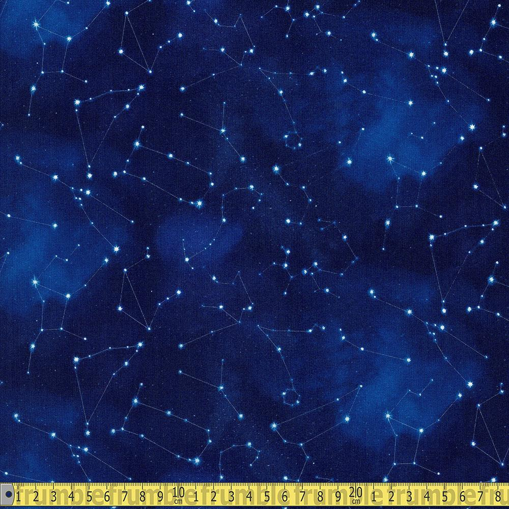 In Space Constellations Royal Fabric by Elizabeth Studio