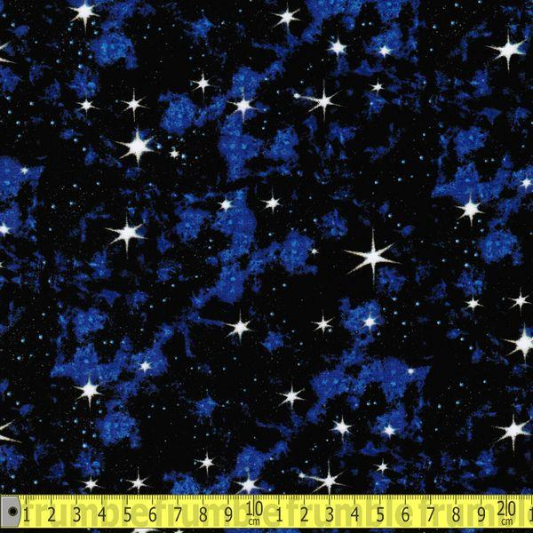 In Space Galaxy Stars Blue - Frumble Fabrics