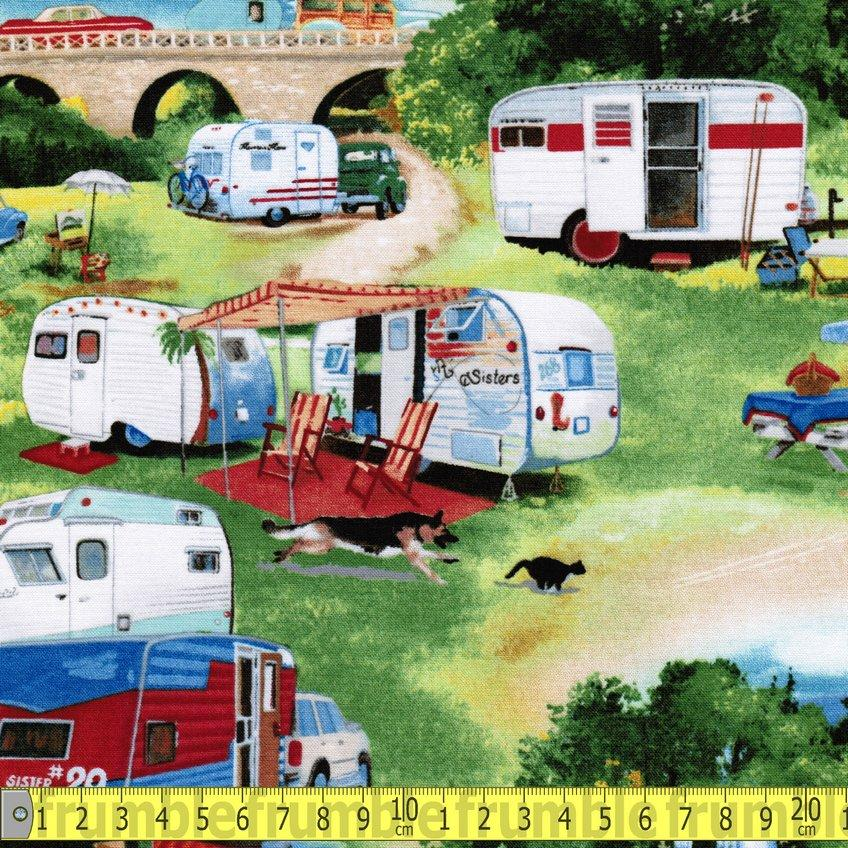 Vintage Trailers Holiday - Frumble Fabrics