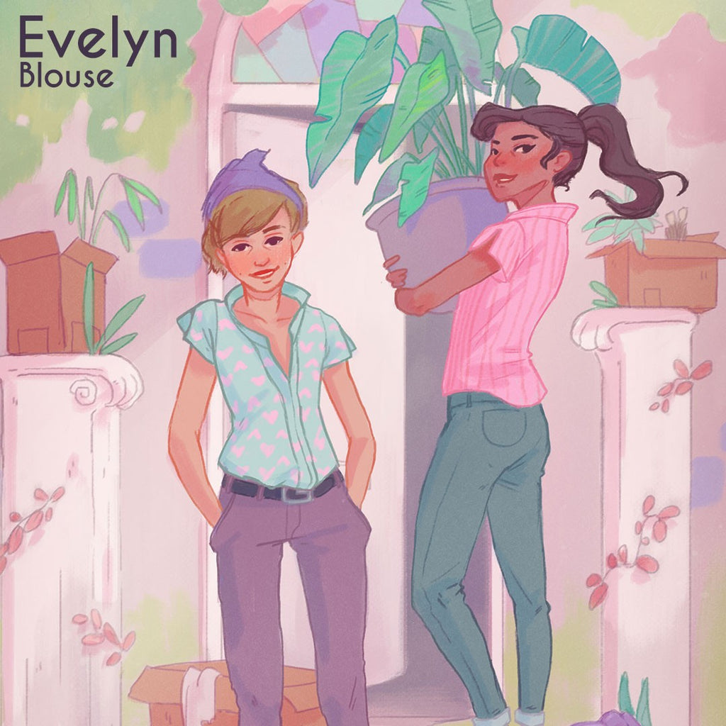 Evelyn - Experimental Space Sewing Pattern - Frumble Fabrics