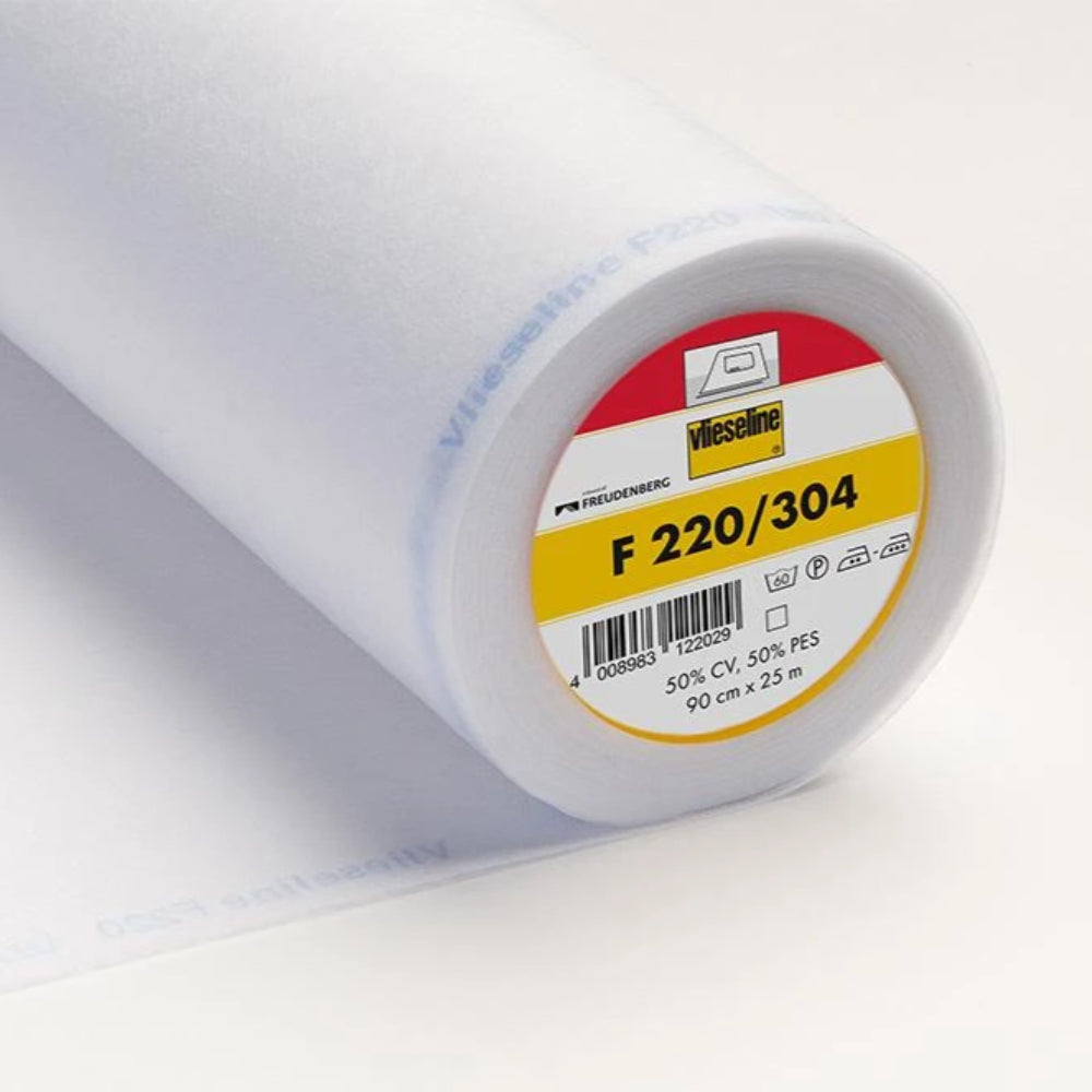 F220-304 White Light Fusible Interlining (Per Metre) - Frumble Fabrics