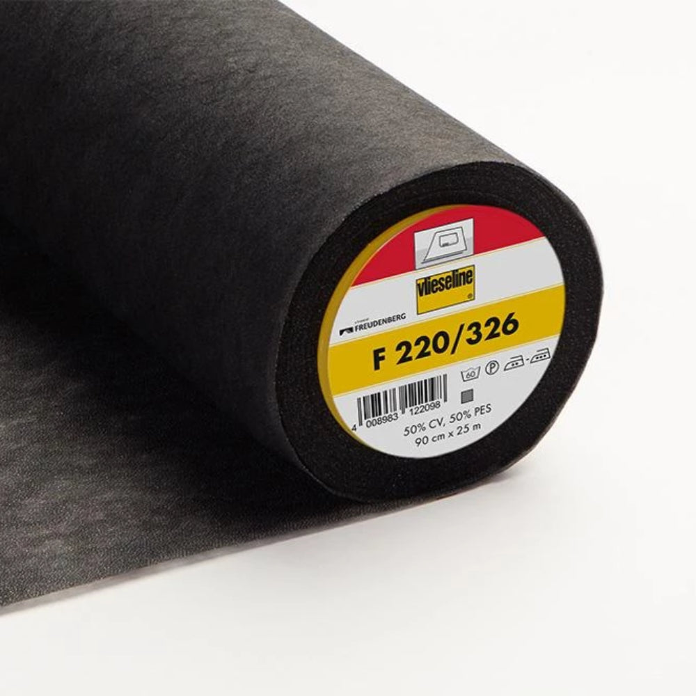F220-326 Black Light Fusible Interlining (Per Metre) - Frumble Fabrics