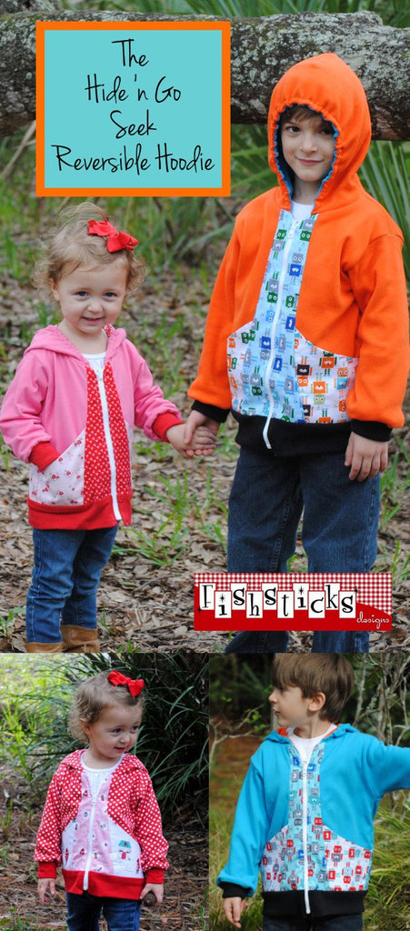 Fishsticks Designs - Hide N Go Seek Reversible Hoodlie (Childrens) - Frumble Fabrics