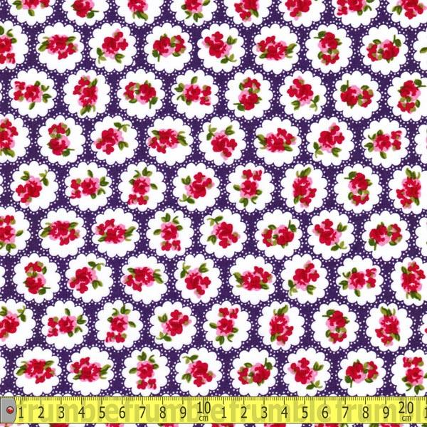 Country Flower Purple (Per Metre) - Frumble Fabrics