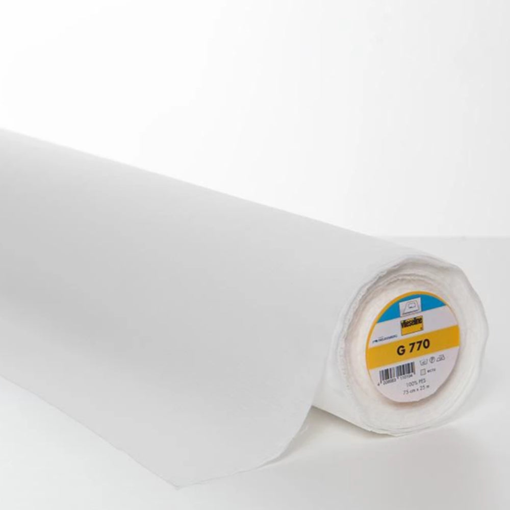 G770 White Fusible Stretch Interlining (Per Metre) - Frumble Fabrics