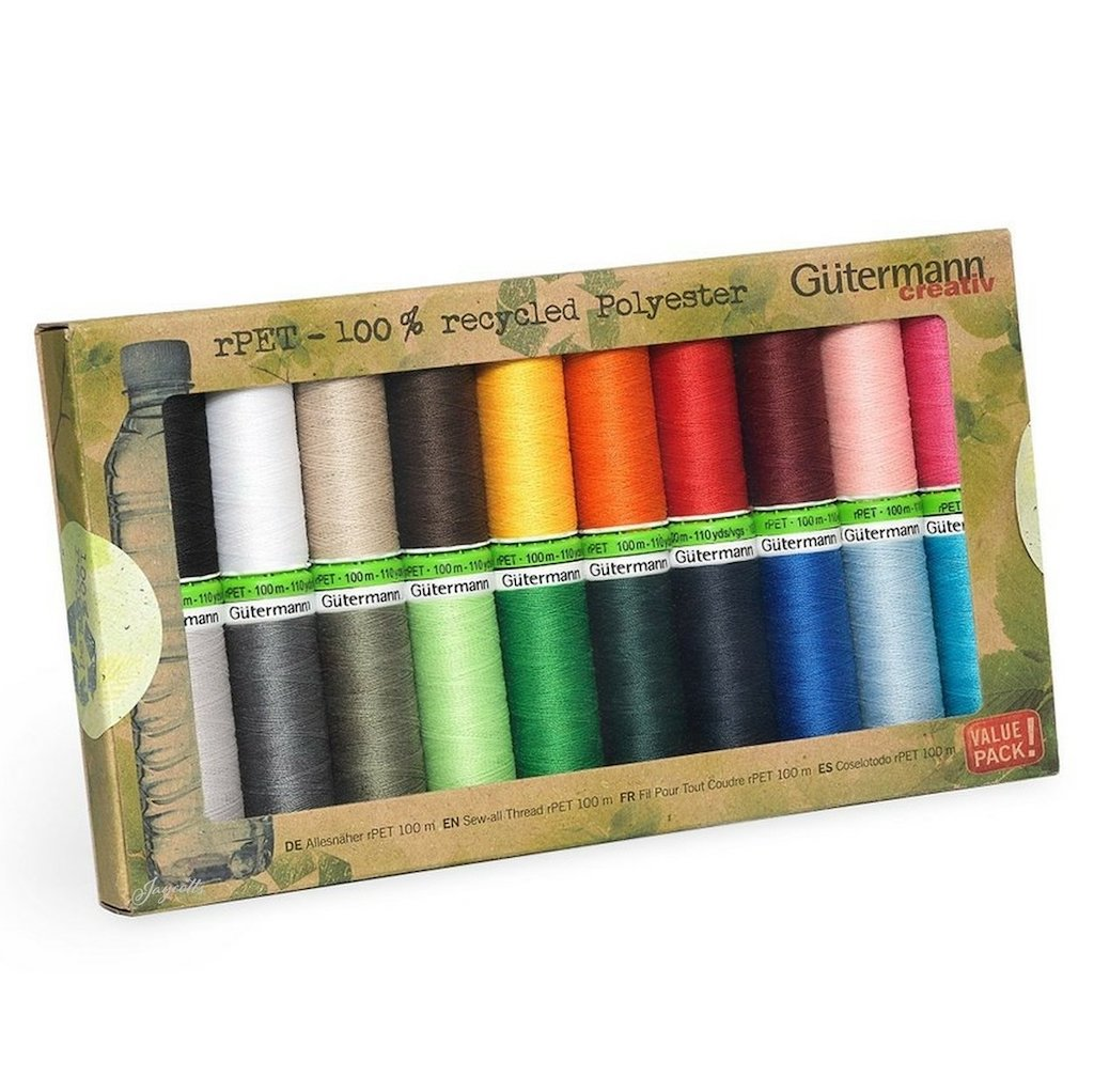 Gutermann 100% Recycled Sew All Thread - 20 Reel Selection