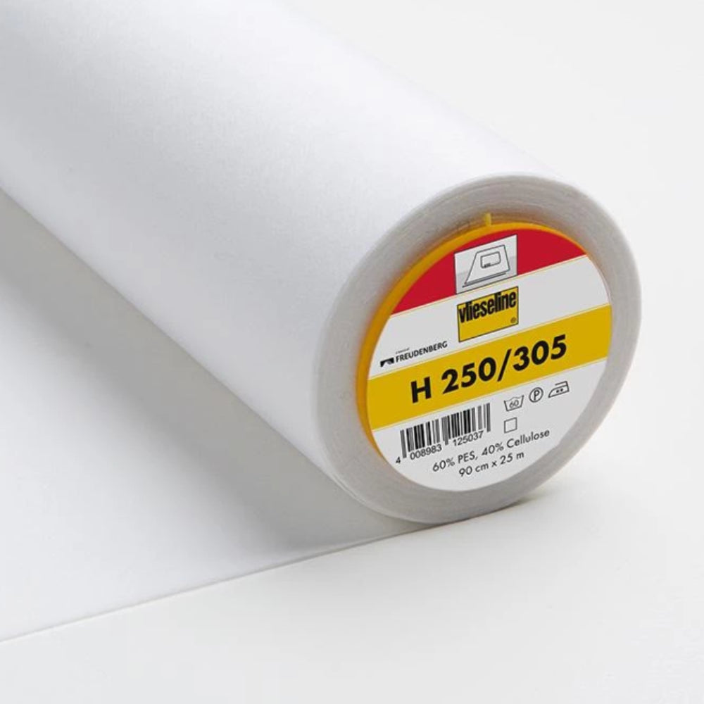 H250-305 White Medium Fusible Interlining (Per Metre) - Frumble Fabrics