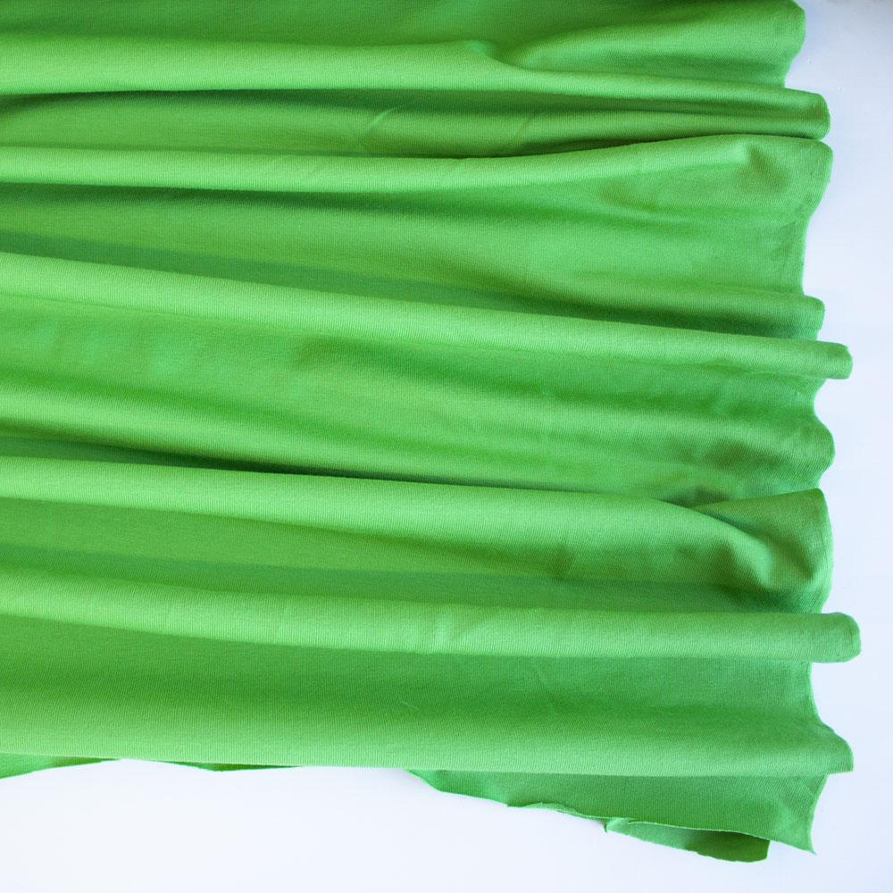 Apple Green Premium Plain Cotton/Spandex Jersey - Frumble Fabrics