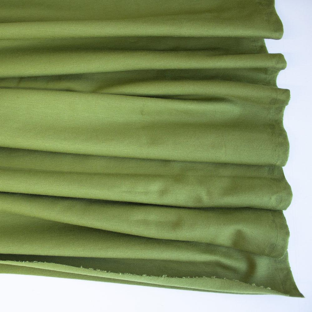 Avocado Premium Plain Cotton/Spandex Jersey Fabric by Various